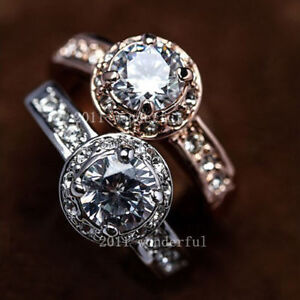 Swarovski Yellow Gold Diamond Wedding Bridal Engagement Rings