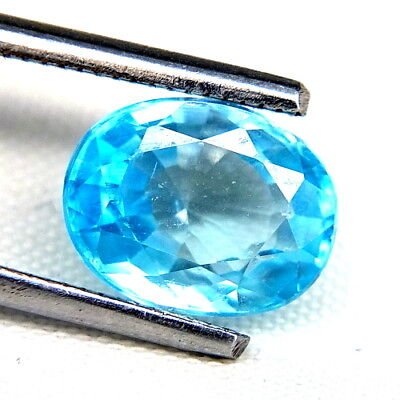 TOP ZIRCONE : 3,67 Ct Natürlicher Blau Zirkon aus Kambodscha