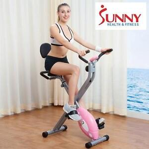 NEW* SUNNY RECUMBENT EXERCISE BIKE HEALTH  FITNESS Folding Recumbent Bike EXERCISE EQUIPMENT 109144394