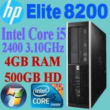 HP ELITE 8200 SFF I5-2400 4GB 500GB DVD-RW COMPUTER Windows 7+COA Nunawading Whitehorse Area Preview
