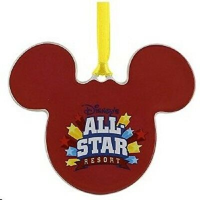 Disney World All Star Resort Ceramic Ornament, NEW