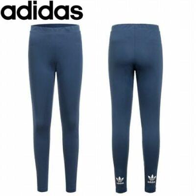 ADIDAS ORIGINALS WOMENS TREF MINERAL BLUE LEGGINGS UK SIZE 4 6 8 10 12 14 RRP£30