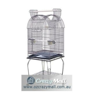 Parrot Bird Cage Aviary Open Roof with Stand Wheel 150CM