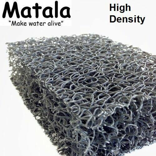 "Gray Matala Pond Filter Mat 10""x 24"" Super High Density Fine Filtration Media"