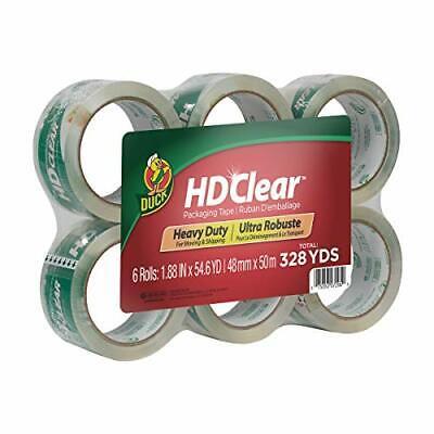 Duck Hd Clear Heavy Duty Packing Tape Refill 6 Rolls 1.88 Inch X 54.6 Yard 44...