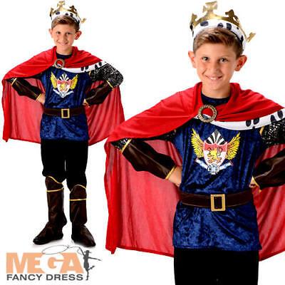 Royal King Boys Fancy Dress Medieval Tudor Kids Childrens Nativity Costume New (Childrens King Costume Nativity)