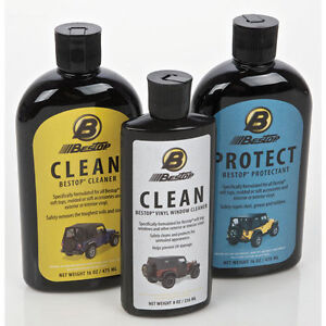Bestop Jeep Soft Top Three Pack Cleaner & Protectent Kit