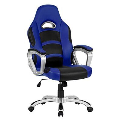High-back Computer Gaming Chair, Pu Leather Ergonomic Office Chair With Padded F
