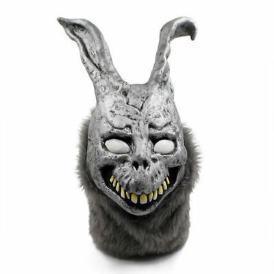 US! Donnie Darko FRANK Rabbit Mask Halloween the Bunny Latex Hood with Fur - Donnie Darko Bunny