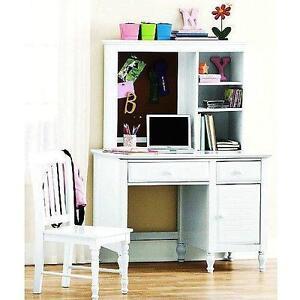White Desk With Hutch