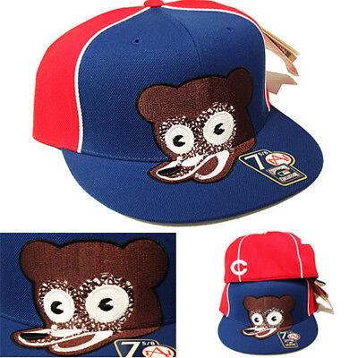Head Fitted Cap ( American Needle Chicago Bears Fitted Hat Cooperstown Classic Bear Head Logo Cap)