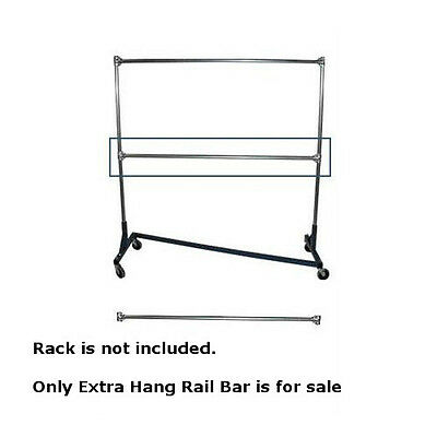 Extra Hangrail Bar For Heavy Duty Z Truck Clothing Racks