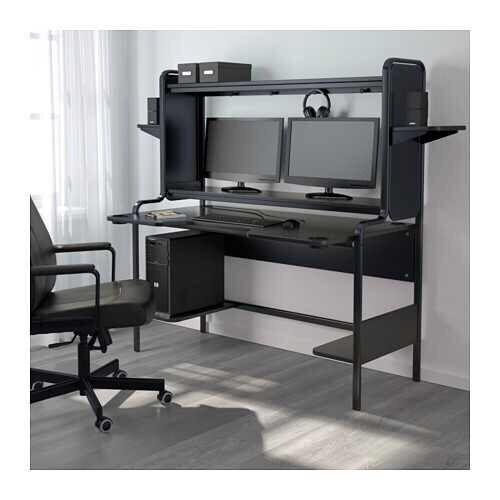 Ikea X Large Omputer Desk Fits 2 Monitors