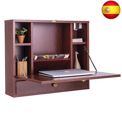 Mesa de Pared Plegable para Ordenador Escritorio de Pared Multifunción con
