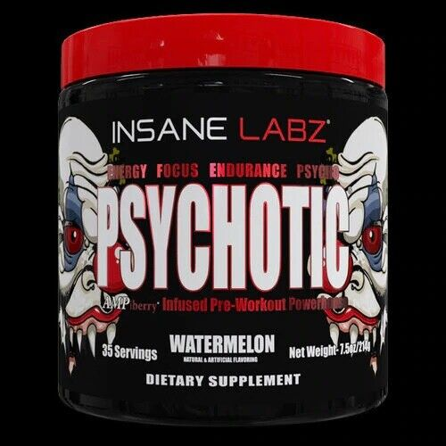 Insane Labz Psychotic Pre-Workout Powder 35 Servings - Choos