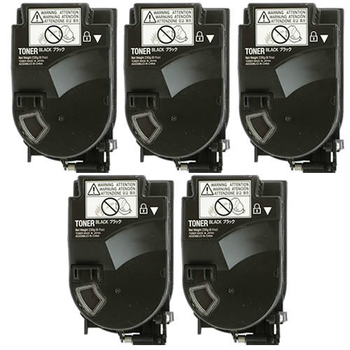 5 Pack Black Toner Cartridge For Konica Minolta Bizhub C3...