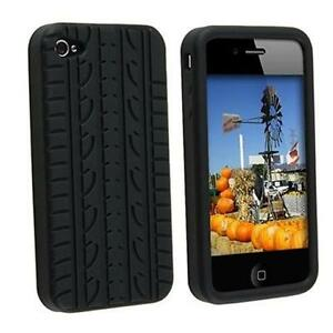 Black-Tyre-Tread-Silicone-Rubber-Case-Cover-For-iPhone-4-4S-4G