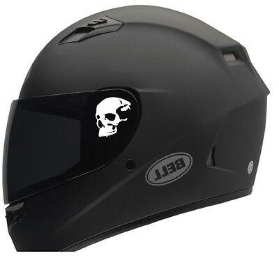 Skull helmet decals (2)  Motorcycle helmet decals, Sticker Honda Harley RZR  Harley Motorcycle Decals