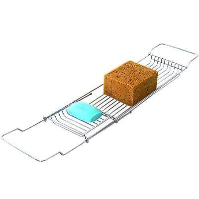 Griglia per vasca da bagno mensola portaoggetti finitura cromata nuovo