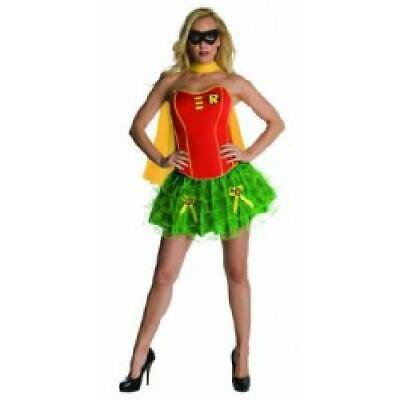 Ladies Corseted Robin Tutu Adult Fancy Dress Batman Costume - Batman And Robin Tutu Costumes