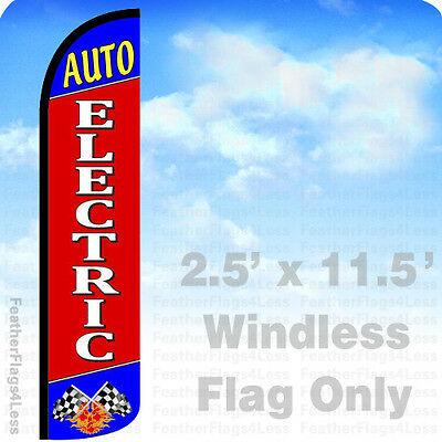 Auto Electric - Windless Swooper Flag Feather Banner Sign 2.5x11.5 - Rz