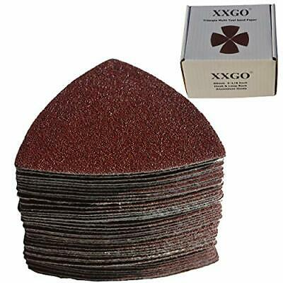 XXGO Triangular Oscillating Multi Tool Sanding Pads 3-1/8 Inch 80mm Assorted ...
