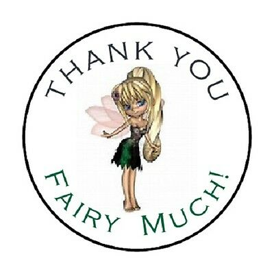 48 Thank You Fairy Much   Envelope Seals Labels Stickers 1 2  Round