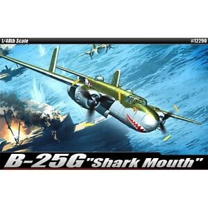 [Academy] Plastic Model Kit 1/48 SCALE B-25G Sharkmouth (#12290)