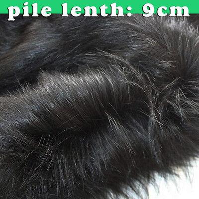 Ткань Black quality Faux fur fabric