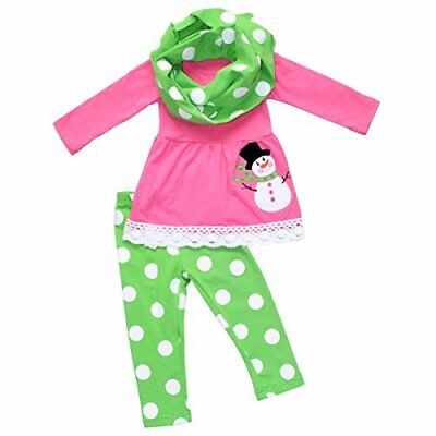 Girls Frosty the Snowman 3 Piece Christmas Outfit Outfit ()