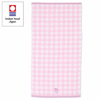 SANRIO MY MELODY IMABARI TOWEL JAPAN COTTON BATH TOWEL (PINK PLAID) 669202