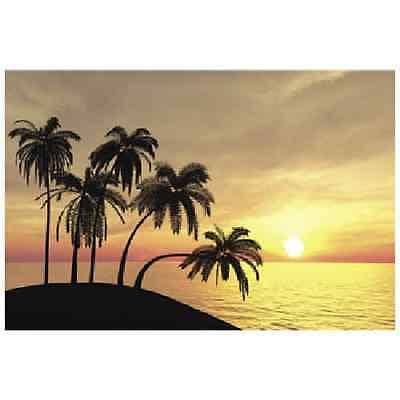 Sunset 3 Piece Beach Backdrop Banner Luau Photo Prop