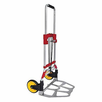 264 Lb Capacity Folding Hand Truck And Dolly Aluminum Portable Folding Red