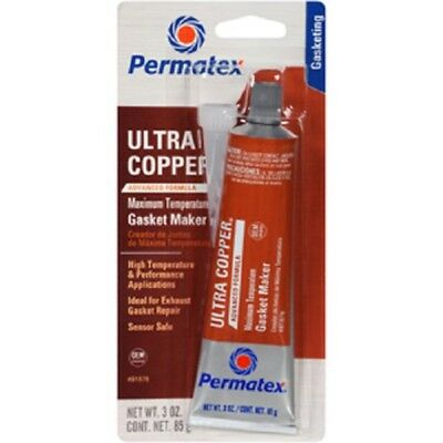 Permatex 81878 Ultra Copper Maximum Temperature RTV Silicone Gasket Maker 3 oz.