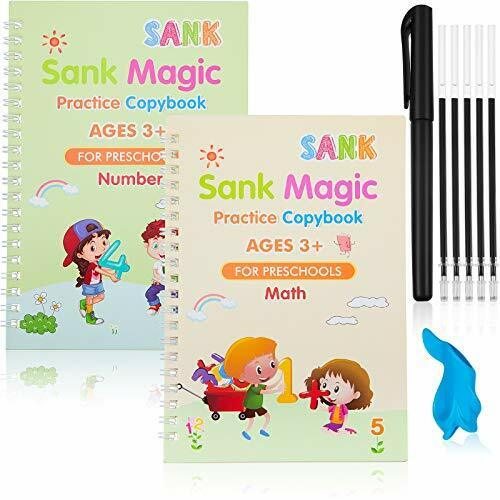 Sank Magic Practice Copybook Writing Paste Practical Number and Math Set of 2pcs