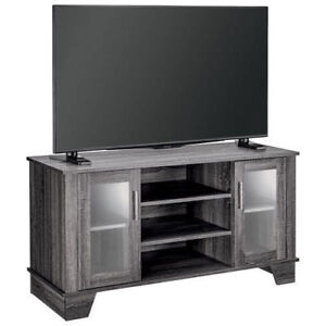 Insignia Anderson Bench Stand for TVs Up To 50'' - Light Grey