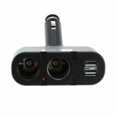 2 fach Adapter für KFZ Verteiler 12V Zigarettenanzünder Doppelstecker USB