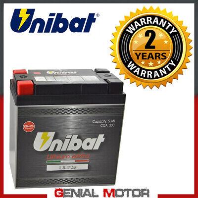 Bateria de litio Unibat ULT3 300A para Moto Guzzi V75 2008