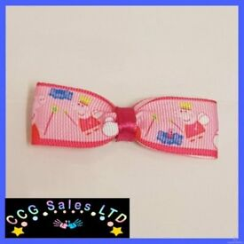HANDMADE PEPPA PIG HAIRCLIP HAIR ACCESSORY