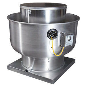 Restaurant Hood Upblast Exhaust Fan 200 cfm 10.5