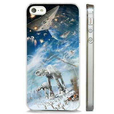 Star Wars Space Battle Epic CLEAR PHONE CASE COVER fits iPHONE 5 6 7 8 X