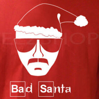BAD SANTA Christmas gift Breaking Bad walter white BrBa funny Heisenberg T-shirt ()