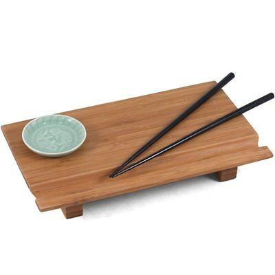 Joyce Chen 55-1106, Bamboo Sushi Board Set, 6 inch by 10-1/2 inch