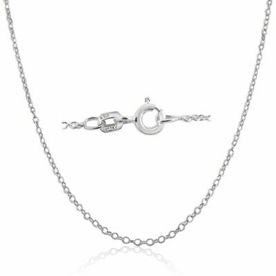 Jewellery - Made In Italy .925 Sterling Silver 1mm Cable Chain Necklace In 12 - 36 Inches