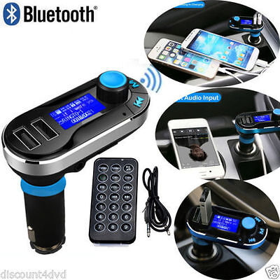 New Wireless Bluetooth In Car FM Transmitter MP3 Kit Dual USB Radio Player Music