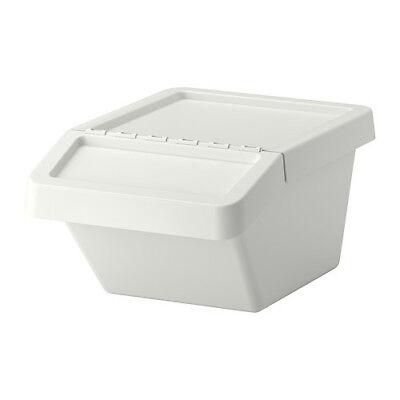 New 10 Gallon Plastic Ingredient Bin Dry Food Storage 5326 Stackable Flip Top