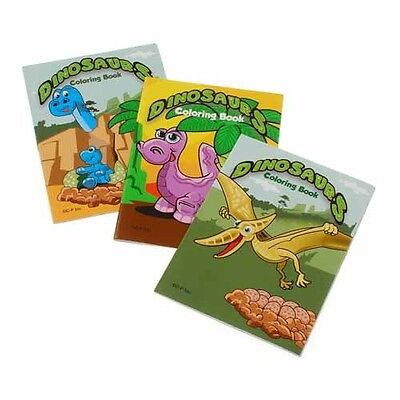 12 Dino Dinosaur Coloring Books Kid Boy Birthday Party Goody Bag Favor Supply
