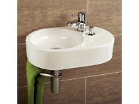 Cloakroom Wash Basin With Towel Rail