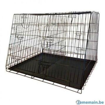 Enclos chien cage transport chien cage double cage chat NEUF