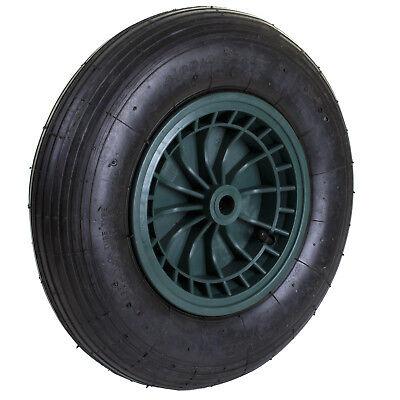 "14"" Wheelbarrow Wheel Trolley Barrow Cart Pneumatic Inflatable Tyre 4.80/4.00-8"